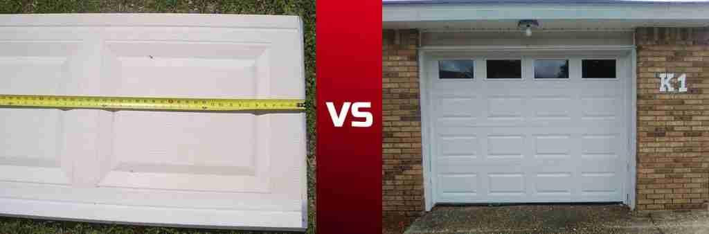 panel replacement vs new garage door replacement
