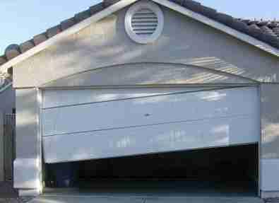 garage door is off the track